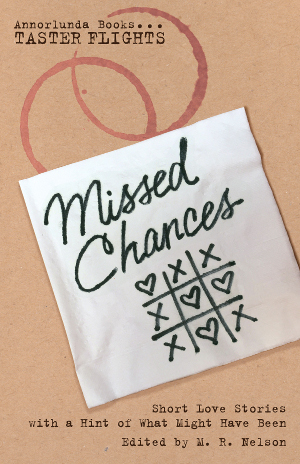 Missed Chances book cover: a cocktail napkin with the title and a drawn tic-tac-toe game