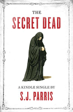 The Secret Dead book cover, a single monk on a white background.