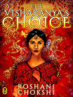 The cover of The Vishakanya's Choice, an image of a young woman in red